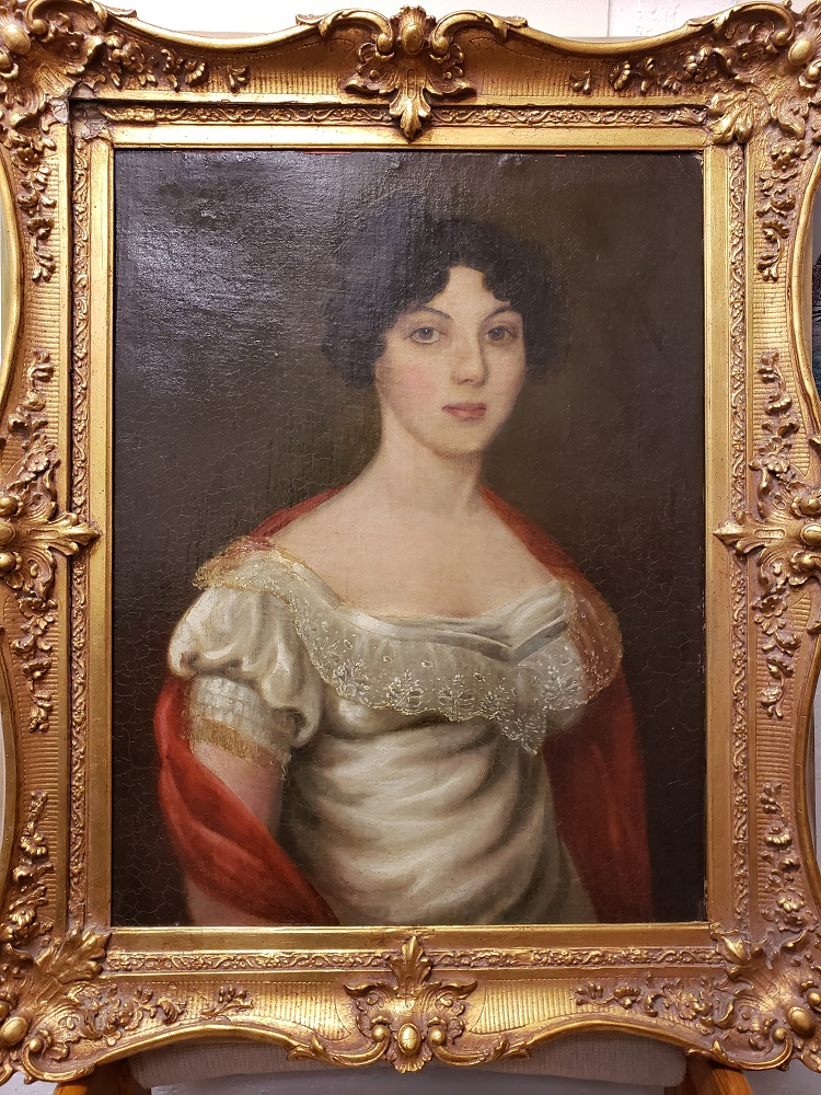 Portrait of a Woman artwork by 19th century artist - art listed for sale on Artplode