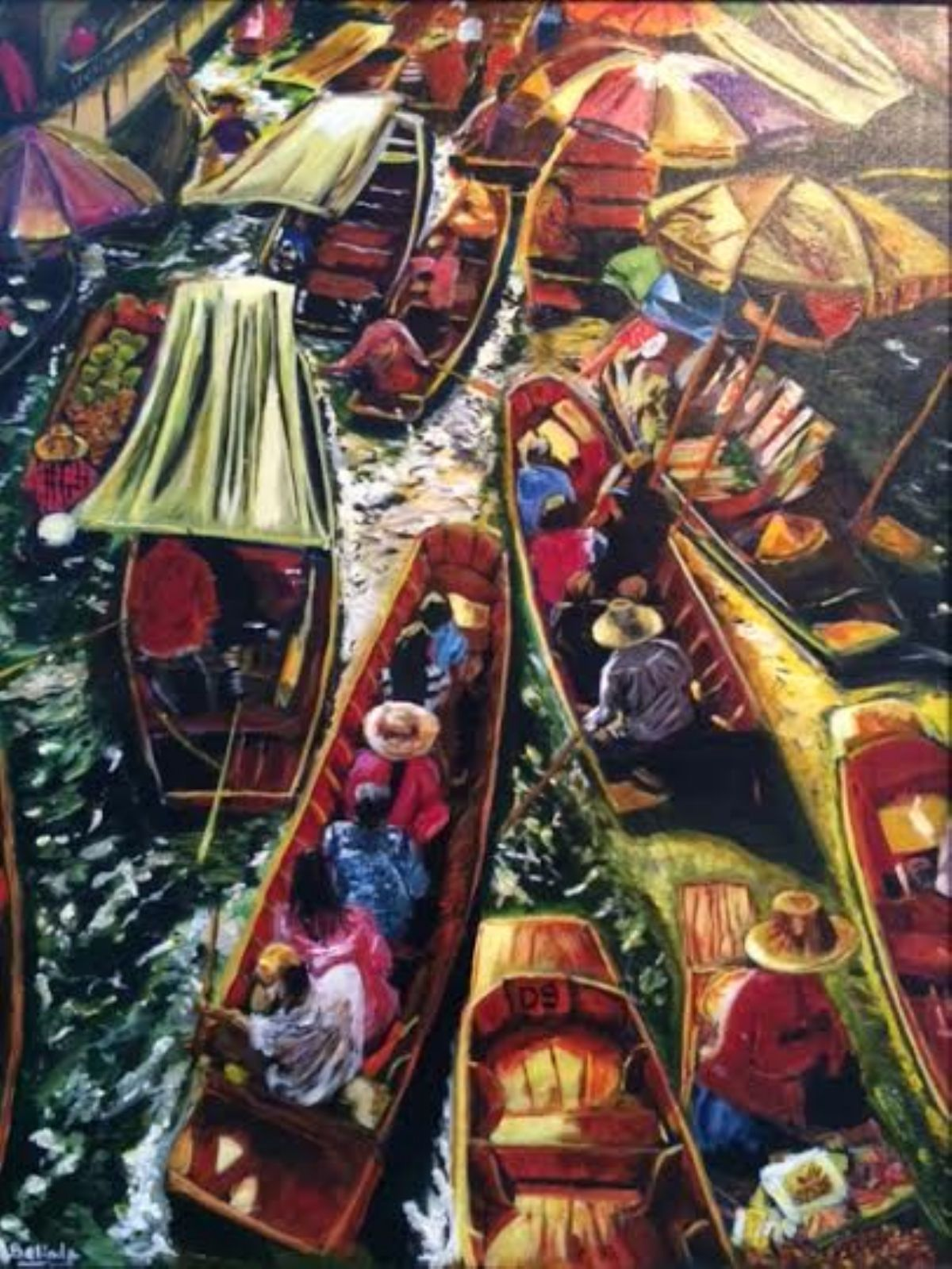 In The Same Boat artwork by Belinda Low - art listed for sale on Artplode
