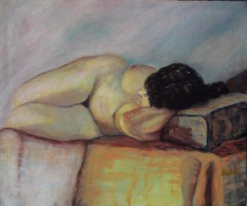 Toulouse or Reclining Woman, art for sale online by Malu Ribeiro