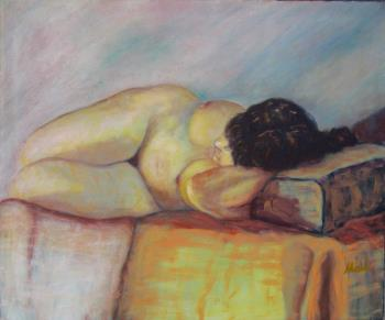 Toulouse or Reclining Woman artwork by Malu Ribeiro - art listed for sale on Artplode
