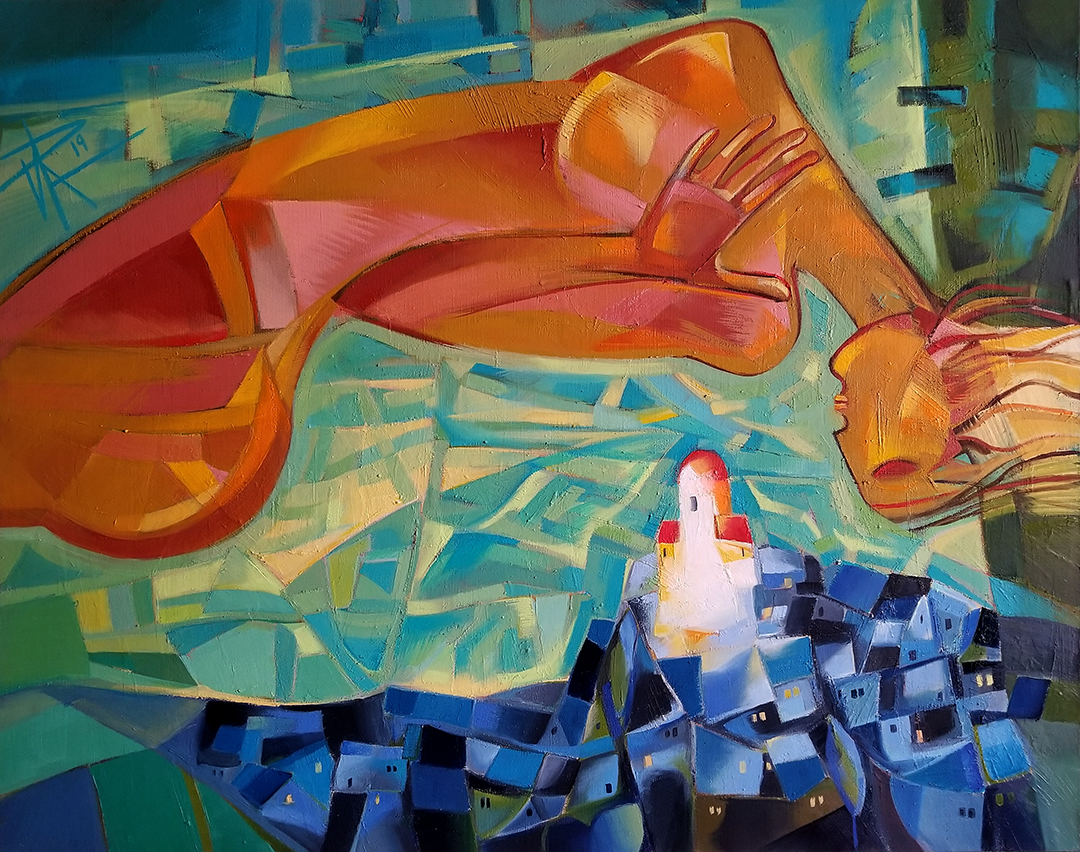 A tear goes down artwork by Ira Simidchieva - art listed for sale on Artplode