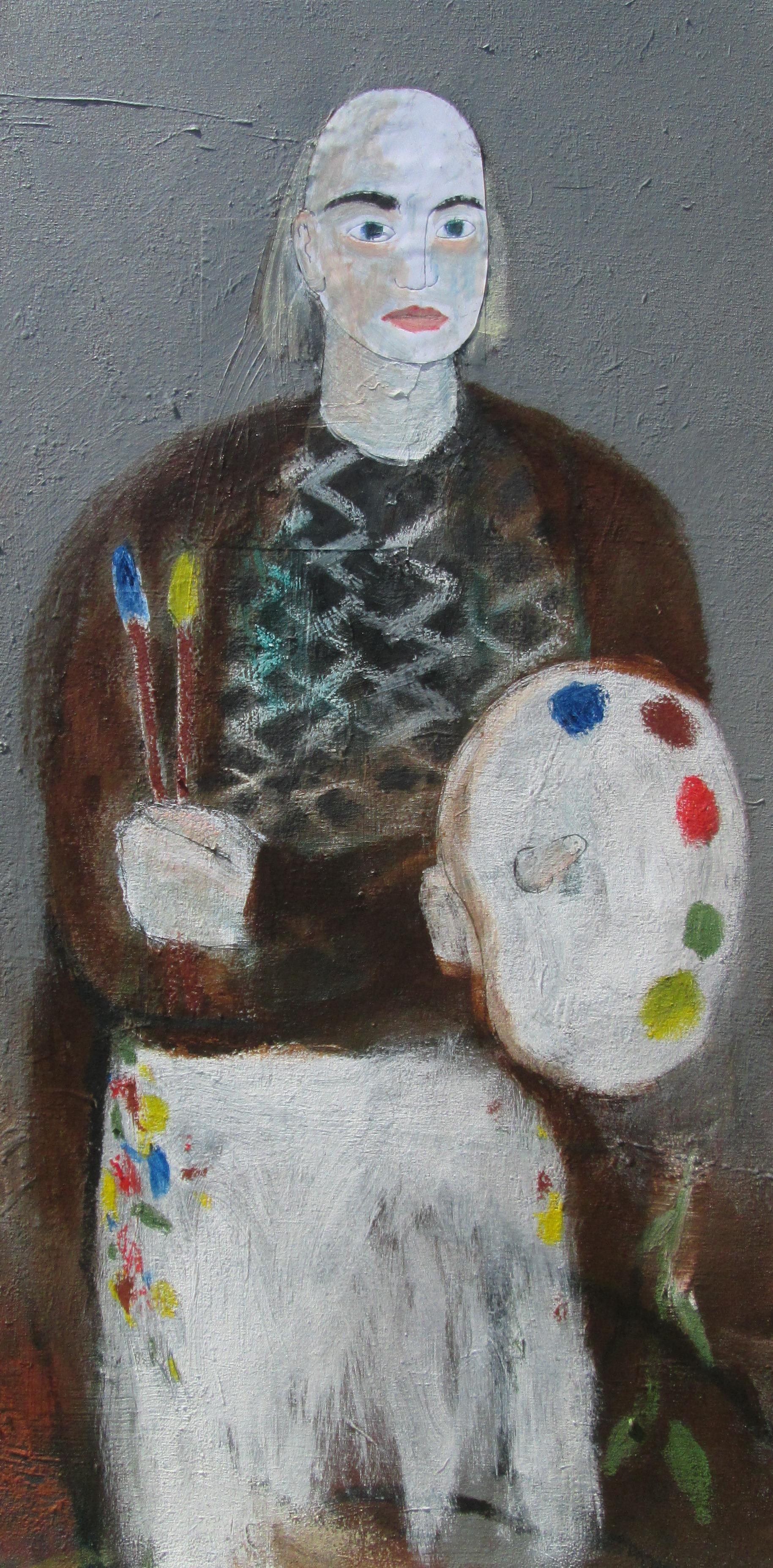 Self Portrait as Artist artwork by Joe McGee - art listed for sale on Artplode