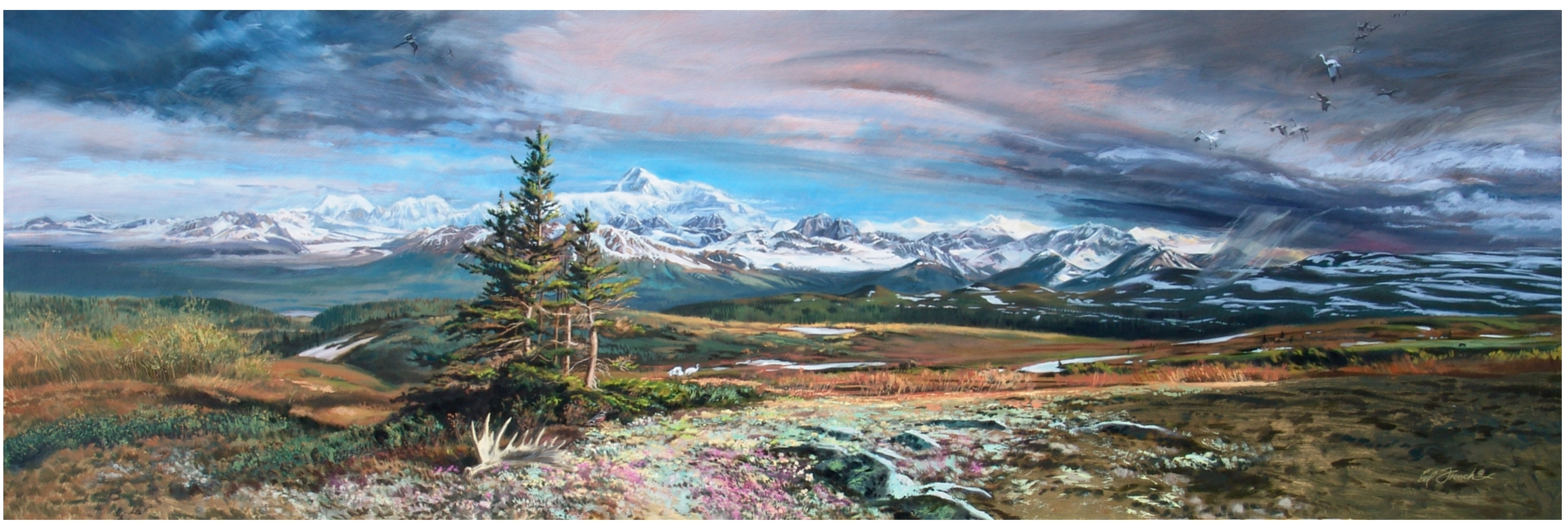 Denali Symphony artwork by Ed French - art listed for sale on Artplode