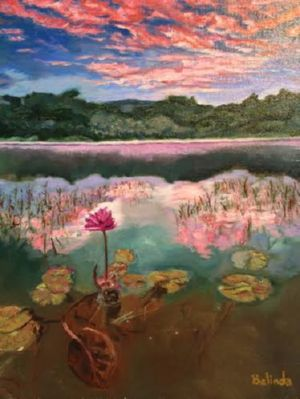 Solitary Bloom, art for sale online by Belinda Low