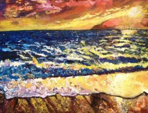Drama At Sea, art for sale online by Belinda Low