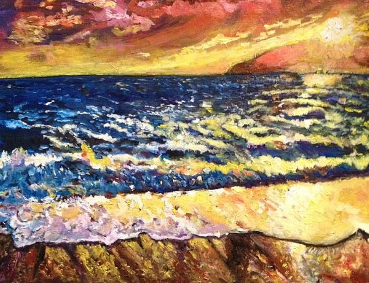 Drama At Sea artwork by Belinda Low - art listed for sale on Artplode