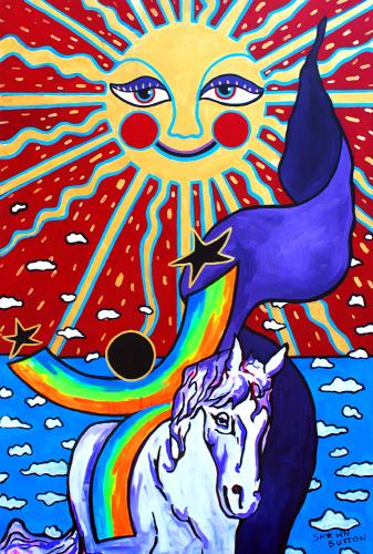 Follow The Sun , art for sale online by Shawn Button