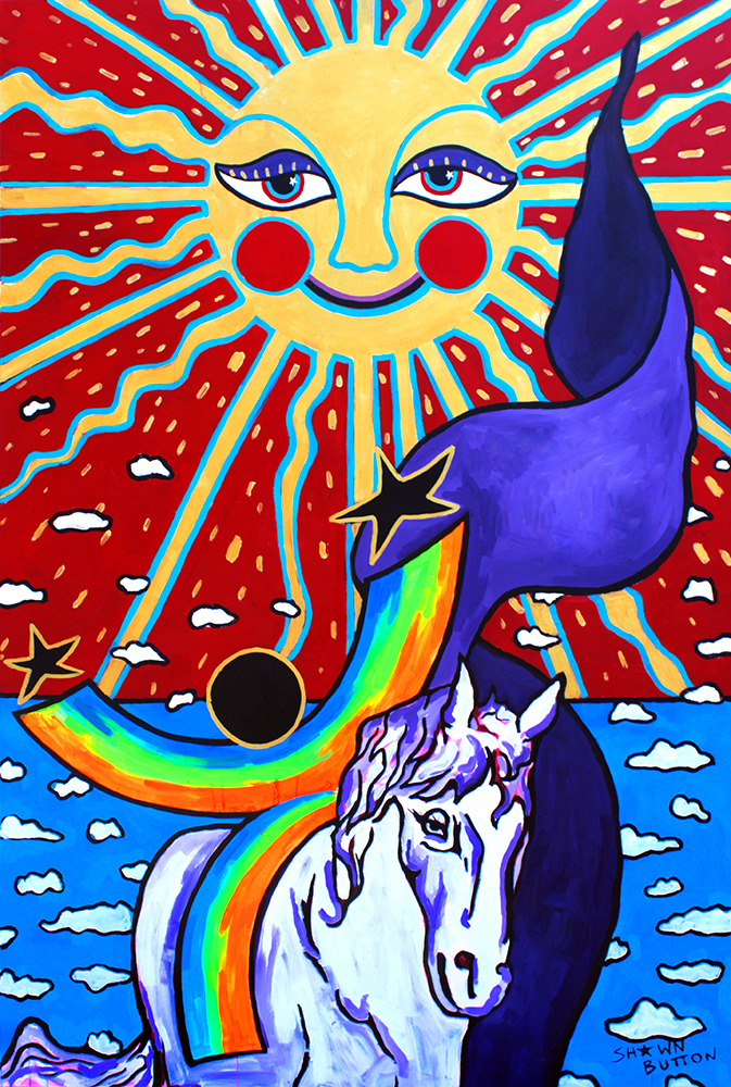 Follow The Sun  artwork by Shawn Button - art listed for sale on Artplode