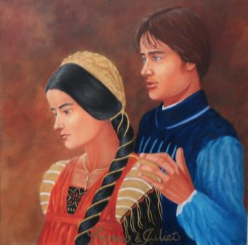 Romeo and Juliet, art for sale online by Robin mcintyre