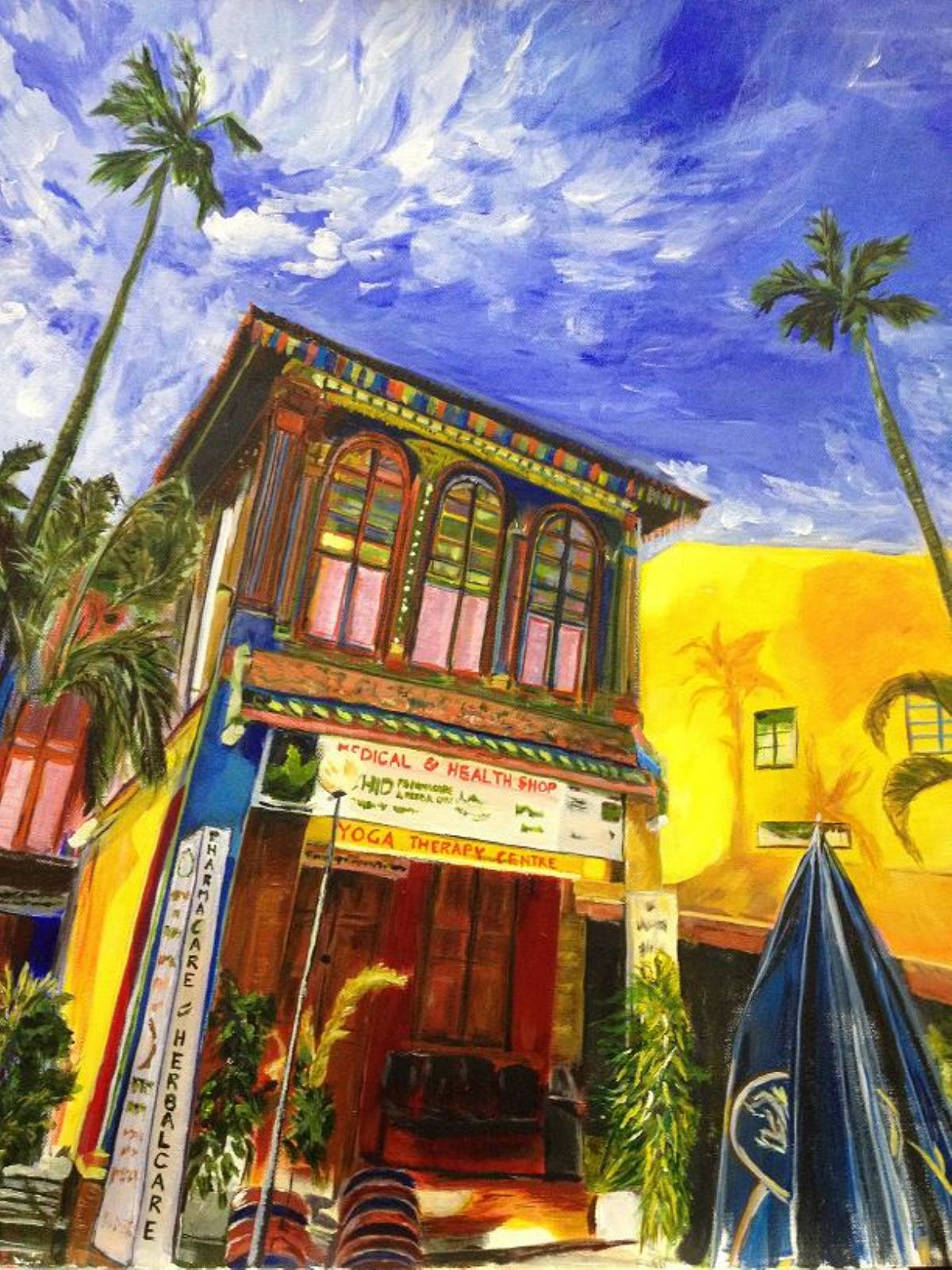 House of The Rising Palms artwork by Belinda Low - art listed for sale on Artplode