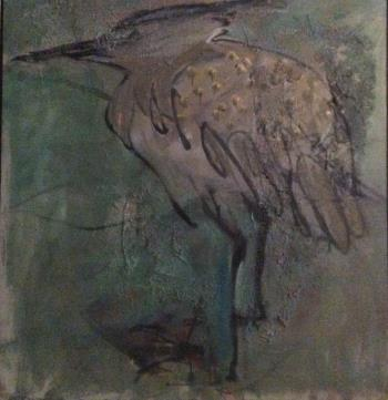 That Heron, art for sale online by Franny Golden