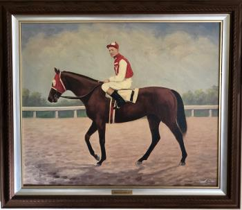 Seabiscuit and Red Pollard 1937, art for sale online by Unknown Artist
