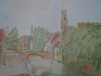 De Groene Rei in Brugge artwork by cornelis sproet