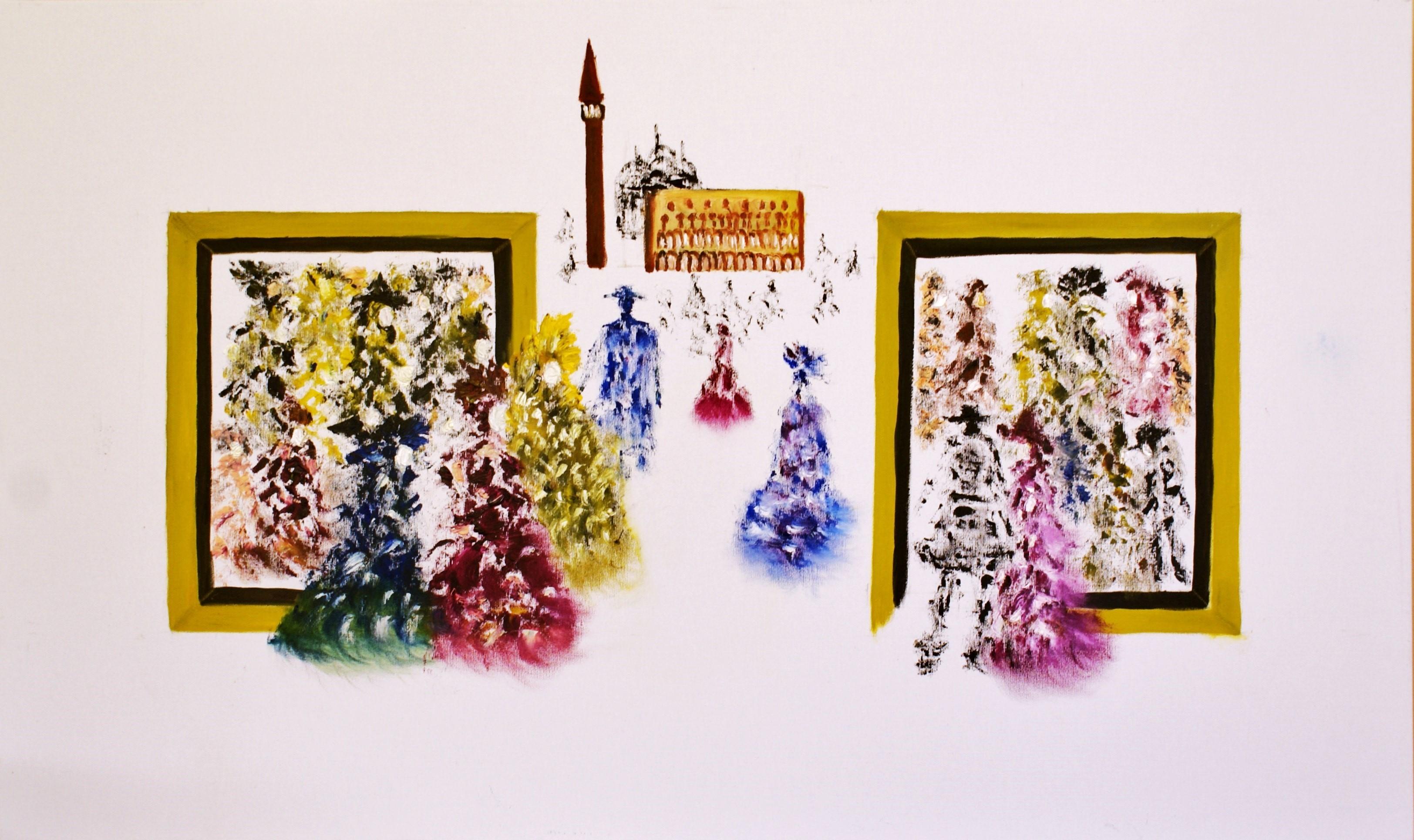 Tutti vanno al Carnevale II. artwork by LETIZIA ZOMBORY - art listed for sale on Artplode