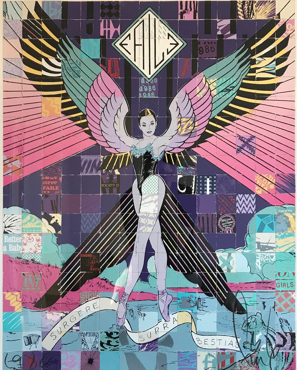 Surgere Supra Bestias artwork by Faile - art listed for sale on Artplode
