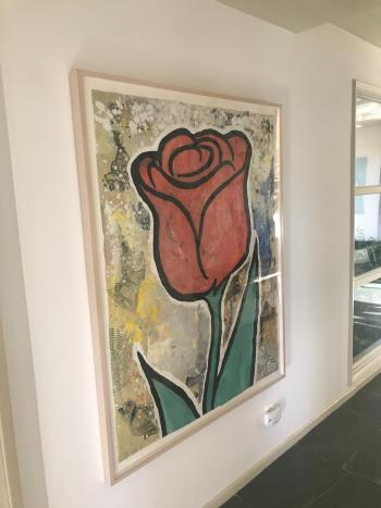 Red and Green Flower artwork by Donald Baechler - art listed for sale on Artplode