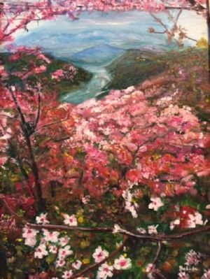 Canopy of Cherry Blossoms, art for sale online by Belinda Low
