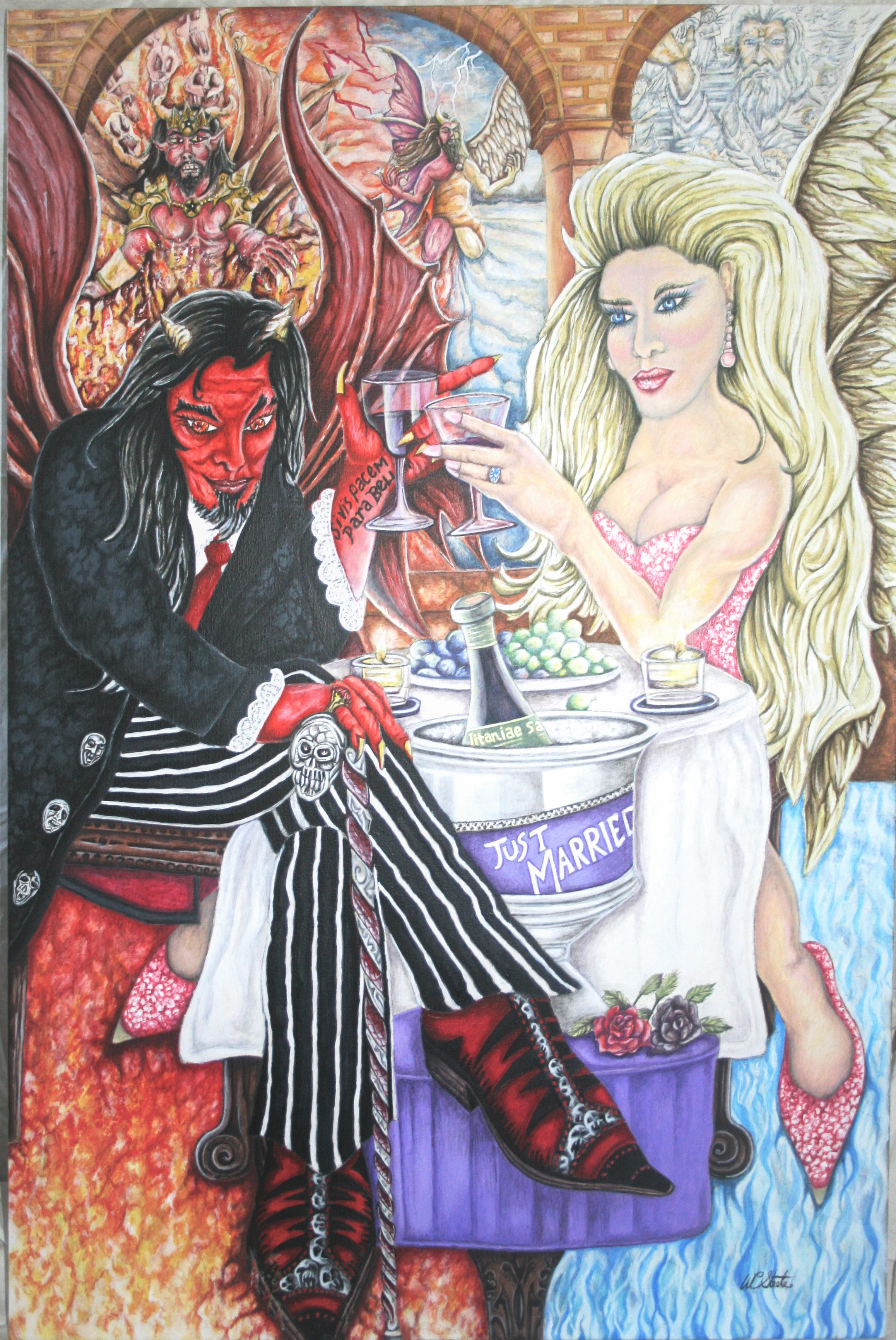 The Vow artwork by Wayne Steele - art listed for sale on Artplode