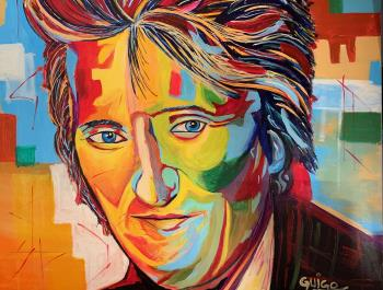 Rod Stewart , art for sale online by Guigo