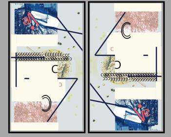 HAM ON RYE DIPTYCH, art for sale online by ALICE SHAPIRO