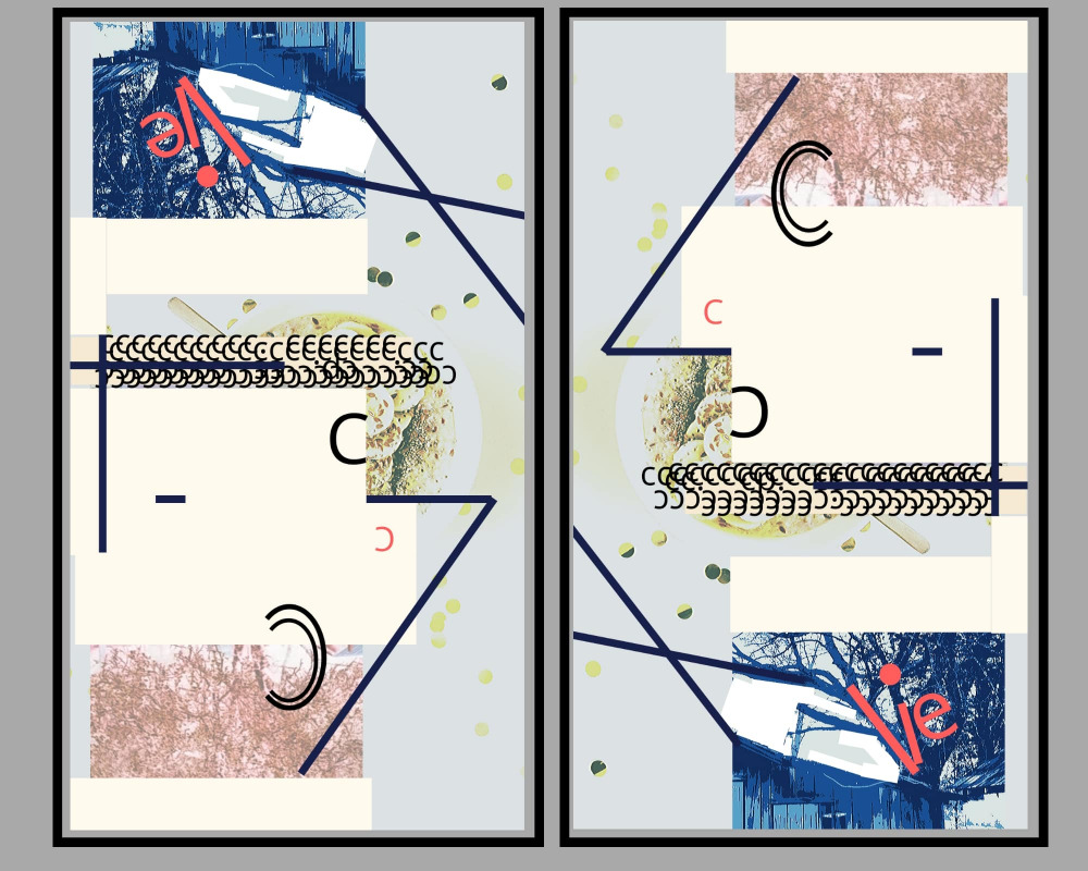 HAM ON RYE DIPTYCH artwork by ALICE SHAPIRO - art listed for sale on Artplode