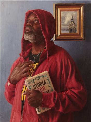 Saint Hoody, art for sale online by Wim Heldens