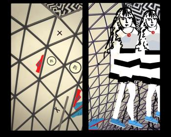 HER TAY TAY DIPTYCH, art for sale online by ALICE SHAPIRO
