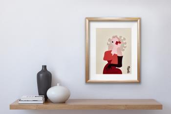 Marilyn artwork by Lyn Feazelle