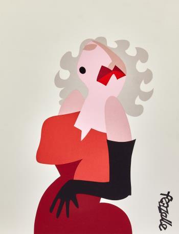 Marilyn, art for sale online by Lyn Feazelle