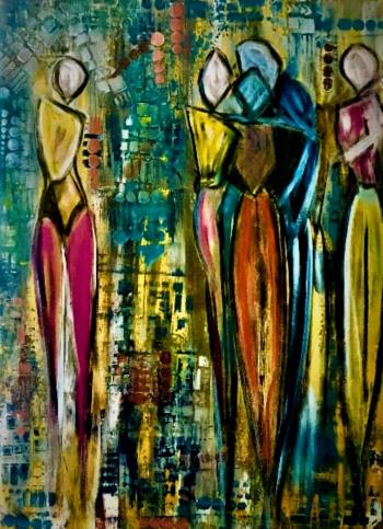 Party with My Friends, art for sale online by Teresa Dorroh