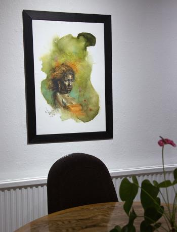Lines of Contemplation artwork by Ayo Binitie - art listed for sale on Artplode