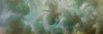 The Heavens in Peach and Green, art for sale online by Tracy Brown