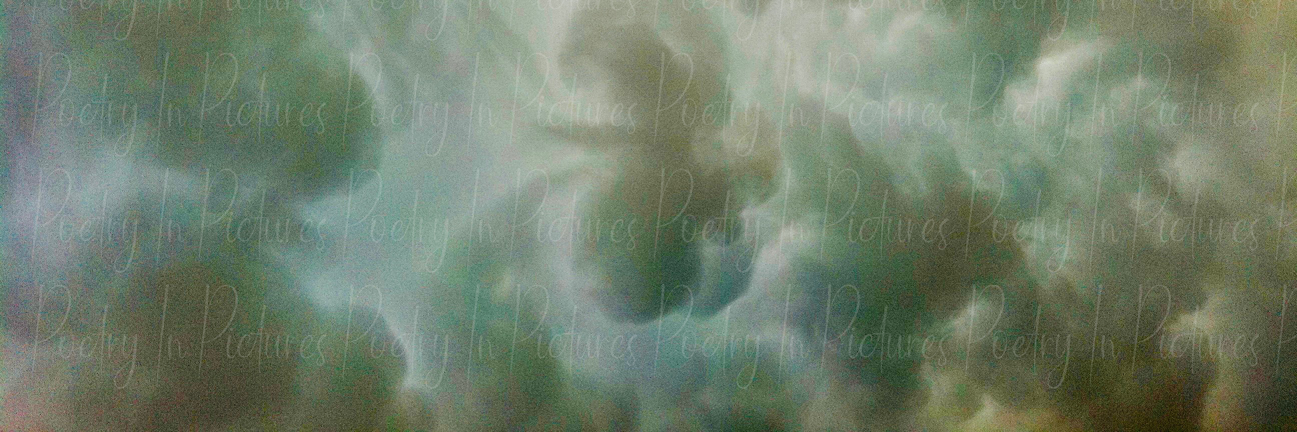 The Heavens in Peach and Green artwork by Tracy Brown - art listed for sale on Artplode