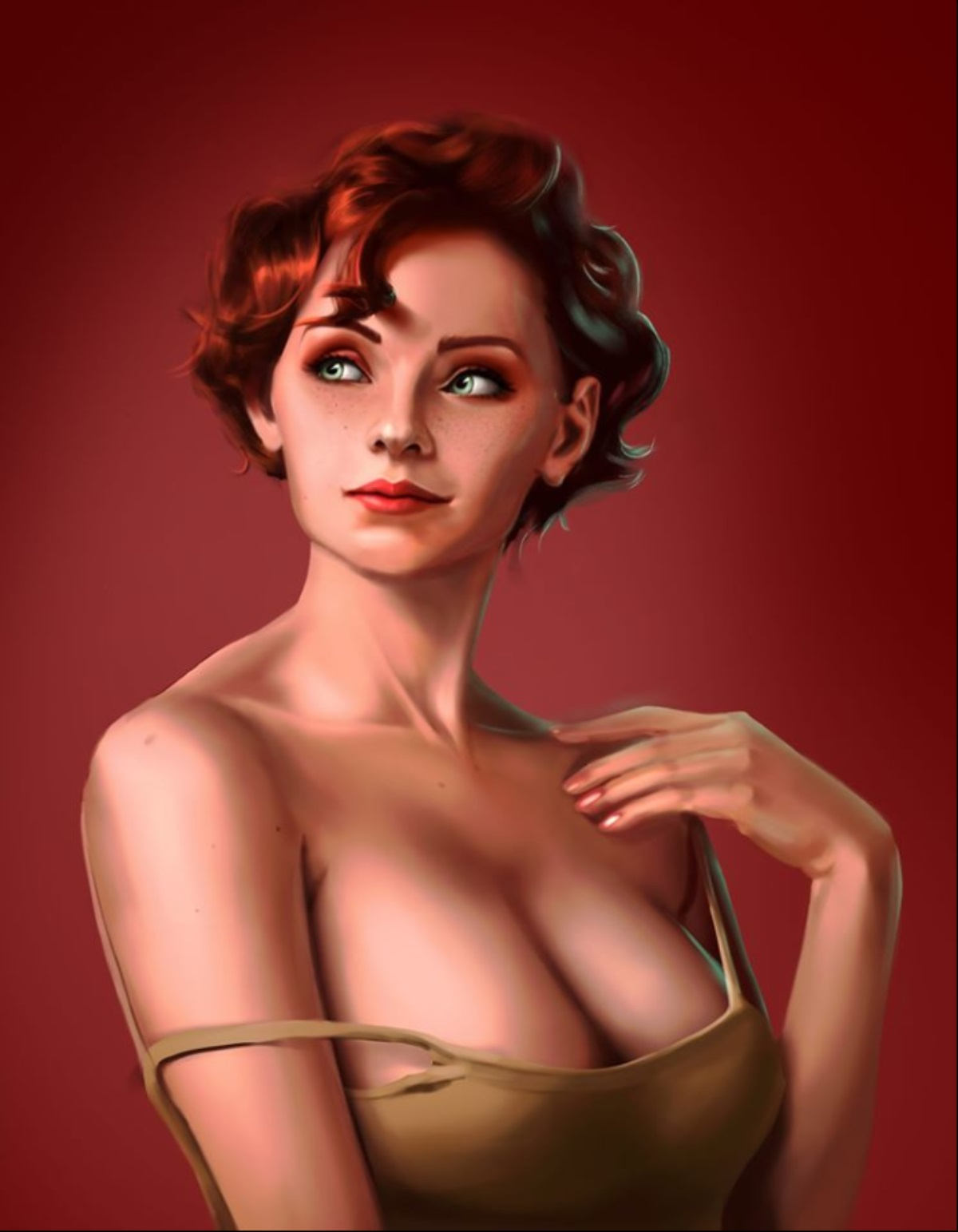 Kang Min Kyung Low Poly Art artwork by Anthony Taylor - art listed for sale on Artplode
