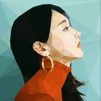 Kang Min Kyung Low Poly Art artwork by Anthony Taylor