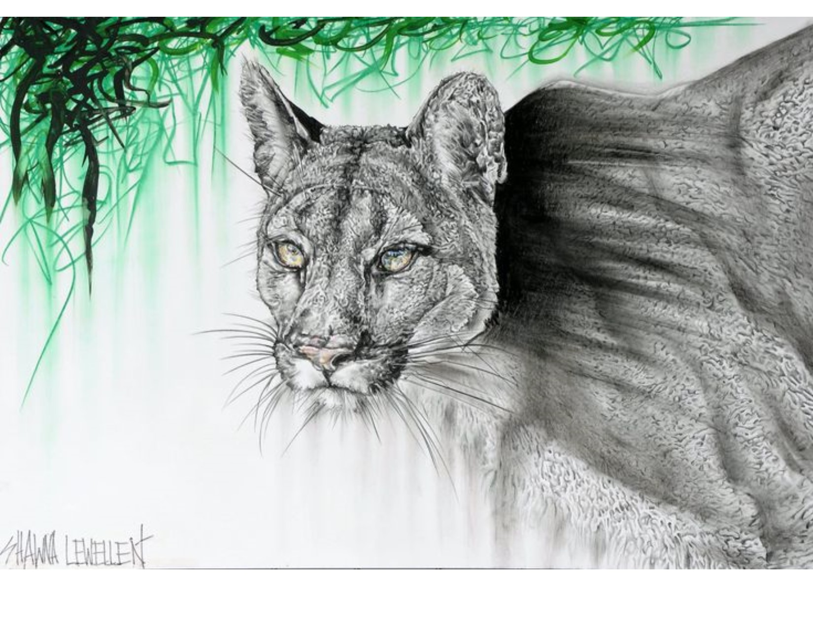 Lurking Cougar artwork by Shawna Lewellen - art listed for sale on Artplode