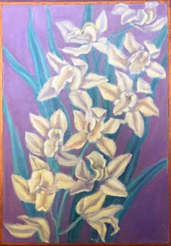 White Lilies, art for sale online by Alan Stewart