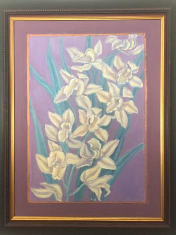 White Lilies artwork by Alan Stewart