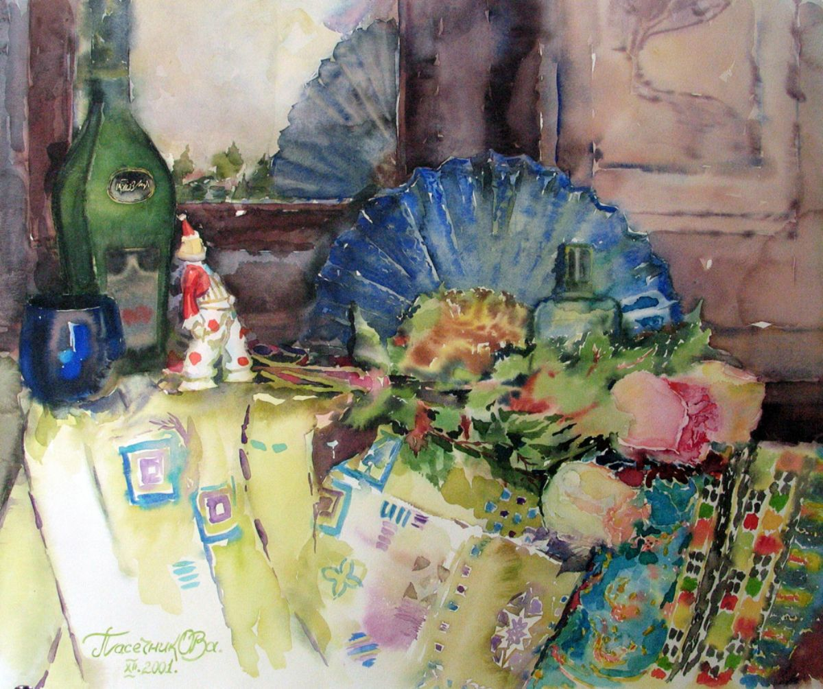 Theatrical mood artwork by Olga Pasechnikova - art listed for sale on Artplode
