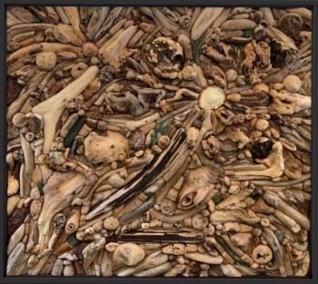 Original Driftwood Wall Sculpture Assemblage , art for sale online by James Skuban