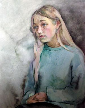 Veps girl , art for sale online by Olga Pasechnikova