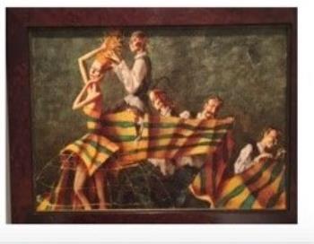 Les Marionettes, art for sale online by Roman Zaslonov