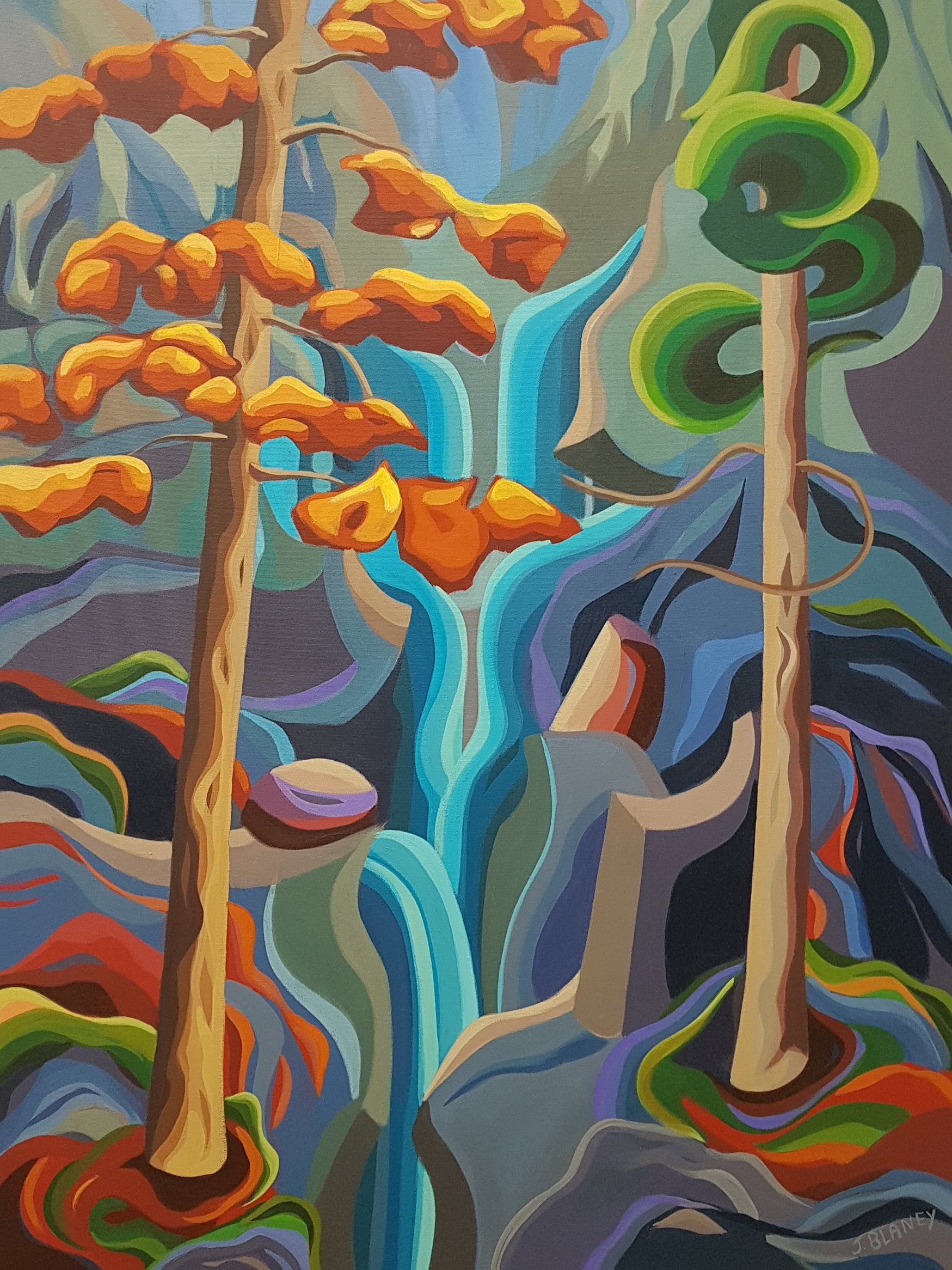 Rock and Flow artwork by Jodie Blaney - art listed for sale on Artplode