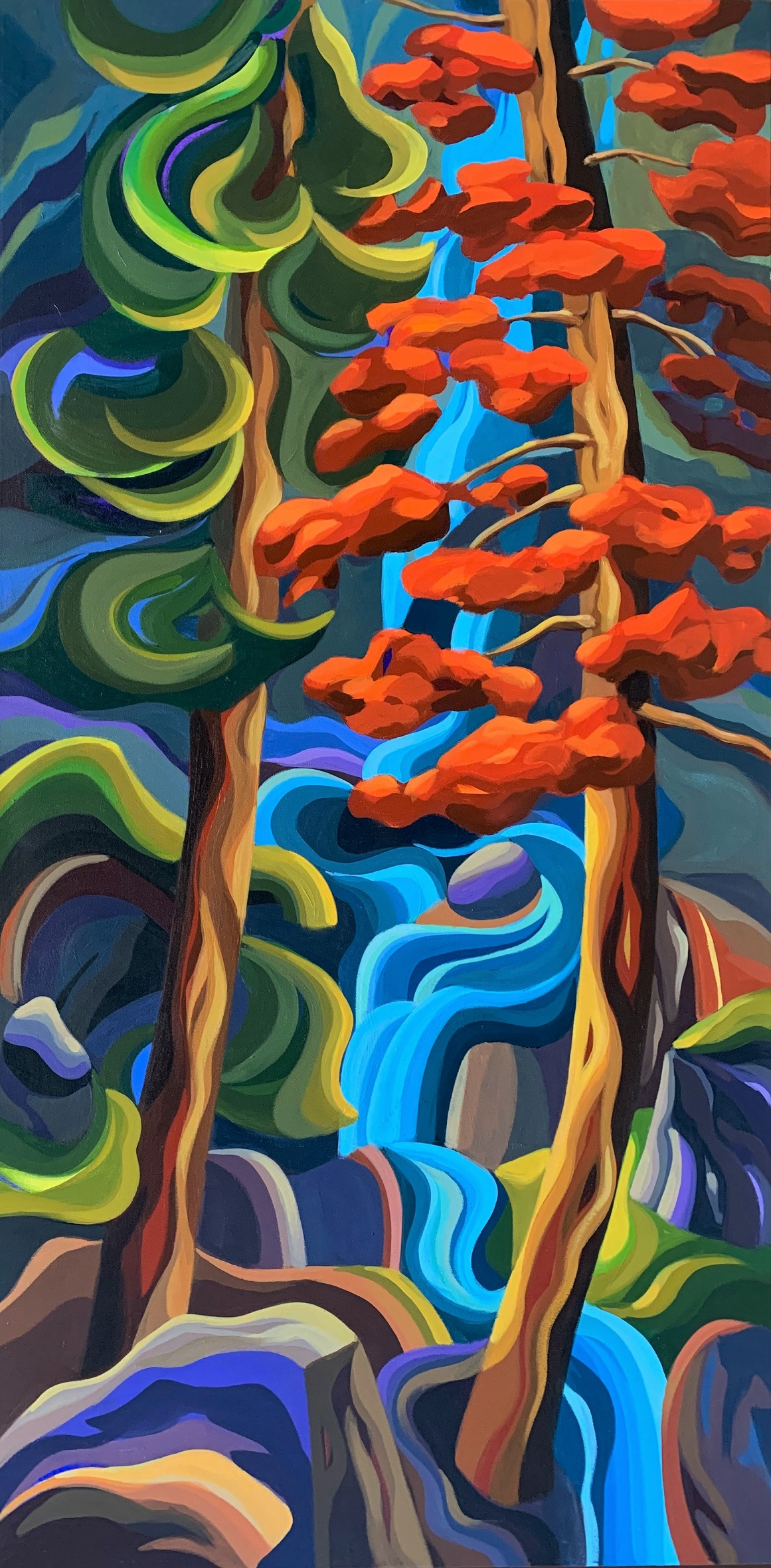 West Coast Autumn Two artwork by Jodie Blaney - art listed for sale on Artplode