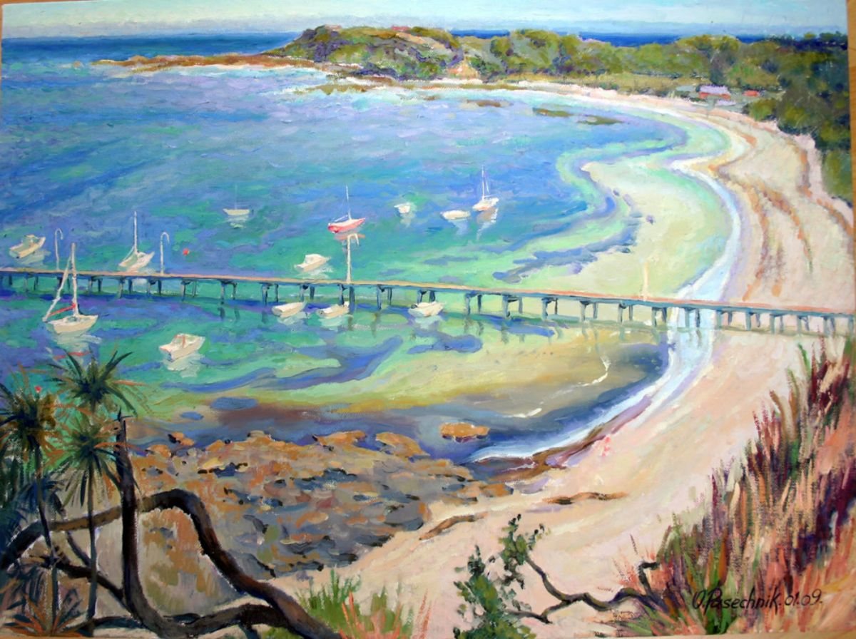 Port Flinders  artwork by Olga Pasechnikova - art listed for sale on Artplode
