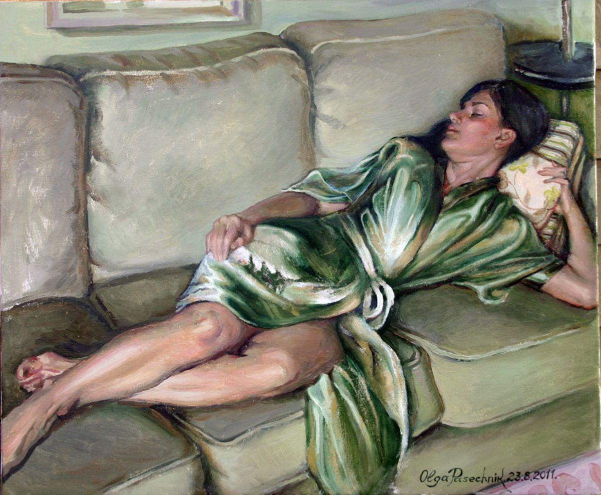 Morning snooze artwork by Olga Pasechnikova - art listed for sale on Artplode