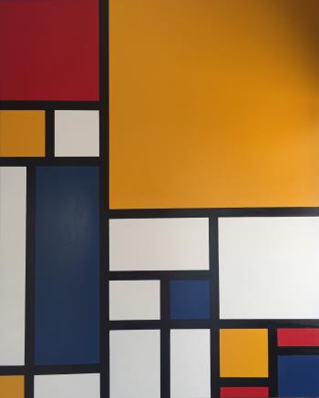 Reverence to Mondrian IV, art for sale online by Clive Grierson