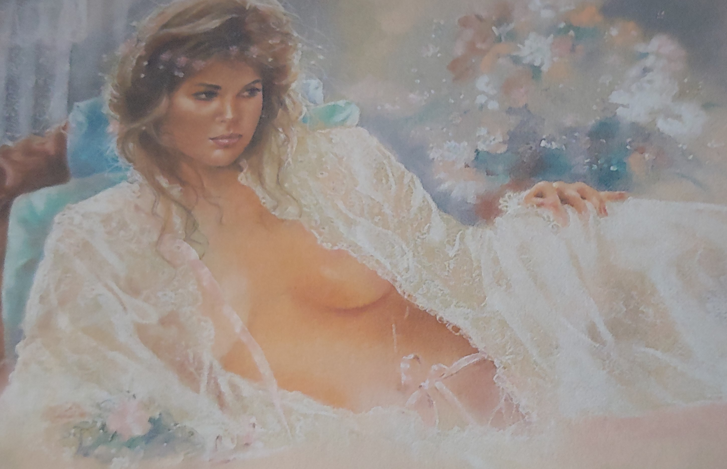 Woman in repose artwork by  Maija - art listed for sale on Artplode