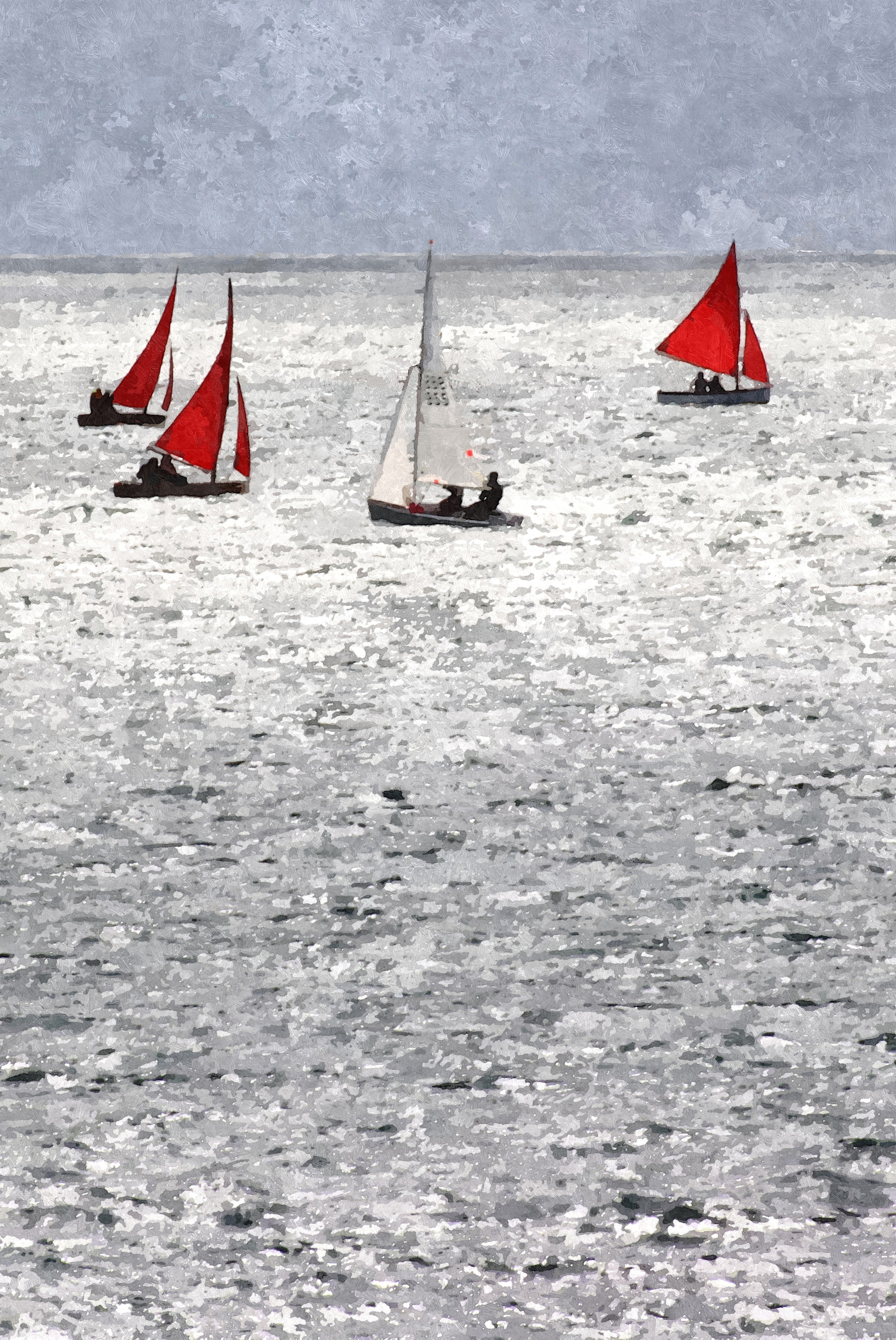Silver Sailing artwork by DAVID LACEY - art listed for sale on Artplode