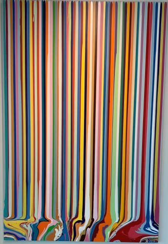 Puddle Painting Contex, art for sale online by Ian Davenport